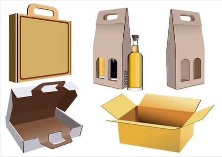 packer: Cardboard boxes isolated on white