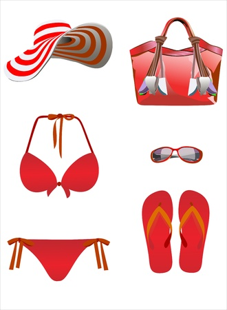Summer vacation, design elements Stock Vector - 14328170