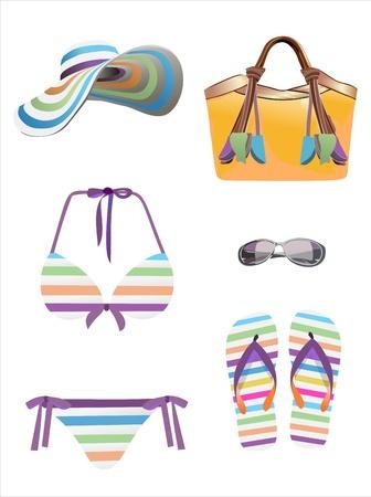 Summer vacation, design elements Vector