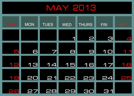 calendar May 2013 Stock Vector - 14328051