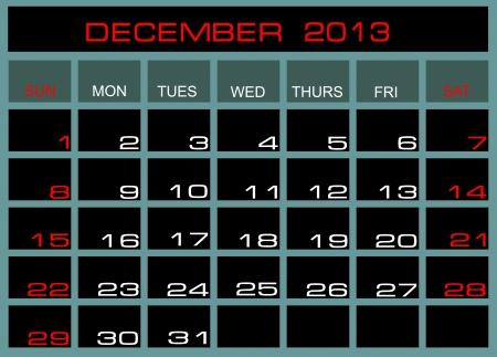 Vecteur calendrier Septembre 2013 Vecteurs