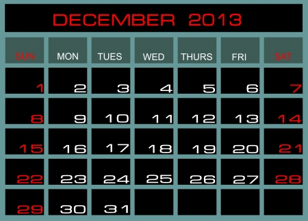 Vector Kalender September 2013 Vektorgrafik