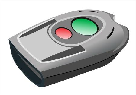 electronic car key isolated on a white background