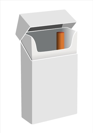 Closed and opened empty cigarettes pack template  Vector