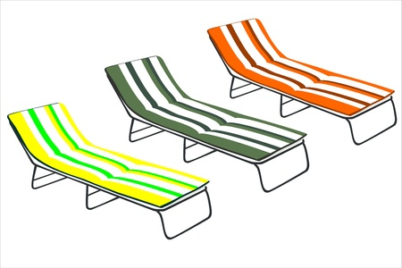 Sun Beds Stock Vector - 14328008