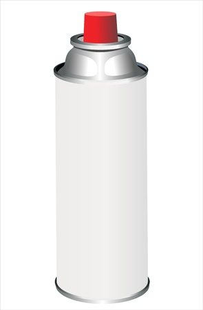 propellant: spray can isolated on white Illustration