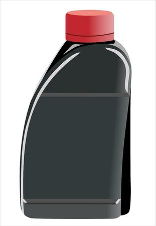 inkpot: black ink