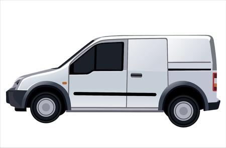 white van: car.