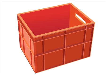 unprinted: Plastic crate isolated on white