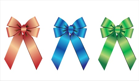 Silk package colorful bow