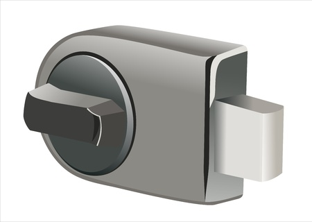 empty keyhole: Rectangle lock