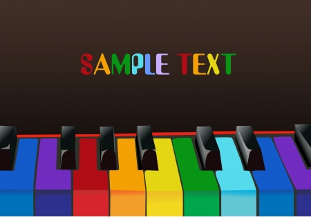 Multicolored piano keys Stock Vector - 14386102