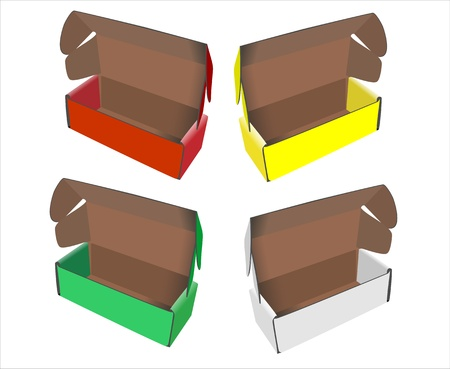 Cardboard Box isolated on white Stock Vector - 14630904