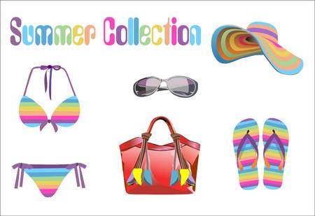 Sommerurlaub, Design-Elemente
