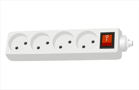 Surge protector isolated on white Vector