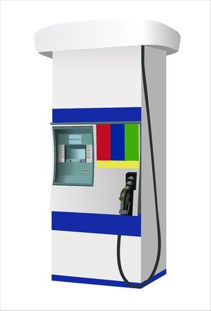 biodiesel: gas station illustration