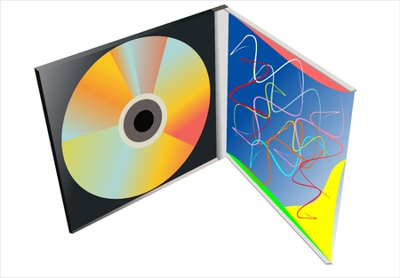 jewel case: CD Box with disc on white background