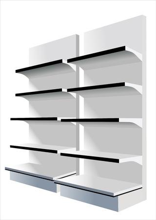 retail display: shop shelves