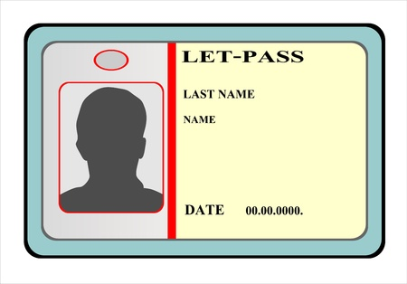 identification cards template Illustration