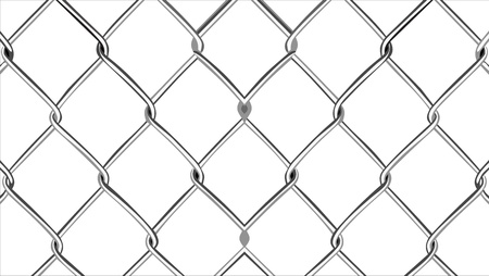 chained link: Wire mesh fence Illustration