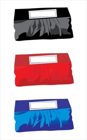 straps: illustration with handbags isolated on white background Illustration