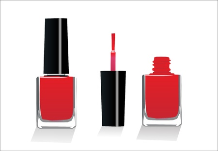 polish: Isolated red Nail Polish   Illustration