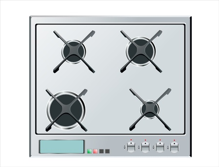 Kitchen stove hob Vector
