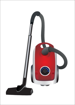 Vacuum cleaner isolated on white background Vector