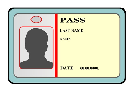 Identification card icon  illustration Vector