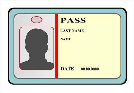 Identification card icon  illustration Stock Vector - 15086243
