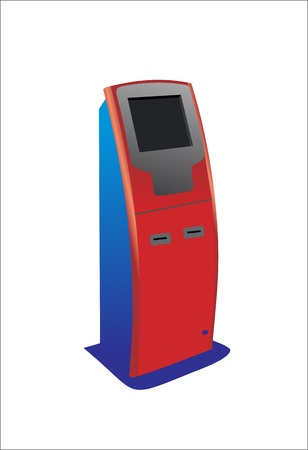 Digital touch screen terminal. Vector