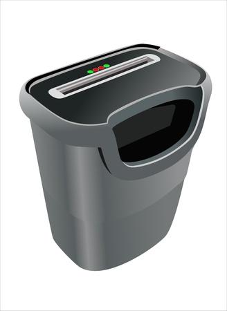 electric shredder between paper strips Illustration