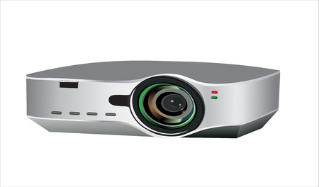 Video projector for work presentation or home cinema entertainment Vector