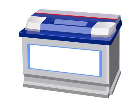 accu: Car Battery isolated on white background Illustration