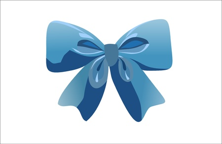 ribbon bow isolated on white Vector