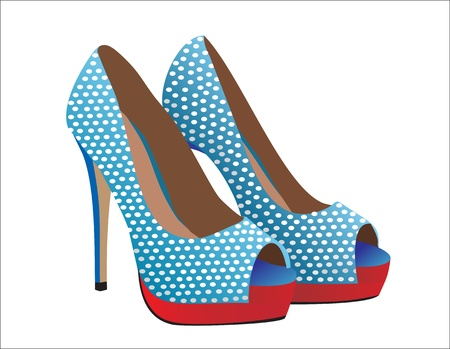 Fashion shoes. Illustration