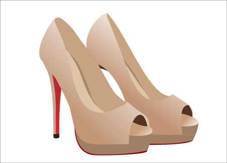 Fashion shoes. Vector