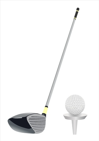 Golf clubs on white background Vector