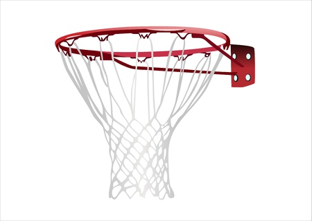basketball shot: basketball hoop Illustration