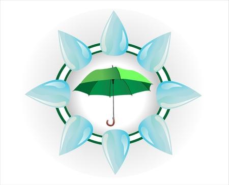 Umbrella poster Stock Vector - 15086263