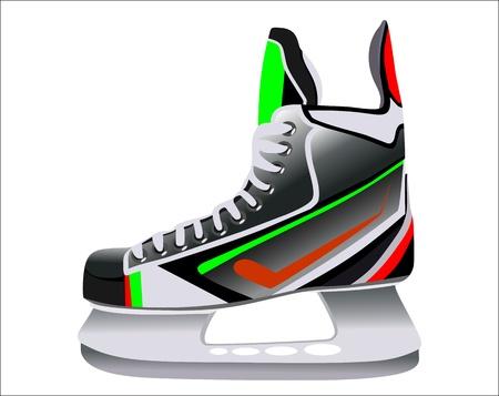 hockey rink: hockey patines aislados en fondo blanco
