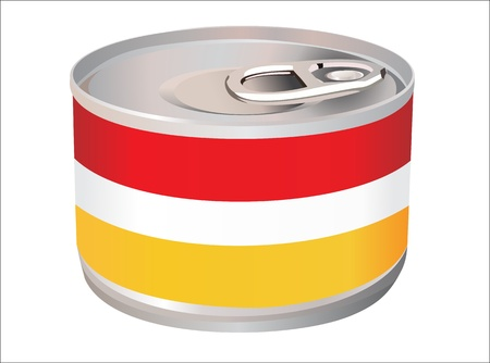Tin with blank label Vector