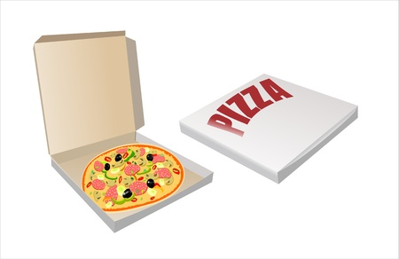 unwrapped: Flat box with lid and lock pizza