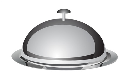 dinnertime: tray and lid  illustration isolated on white background