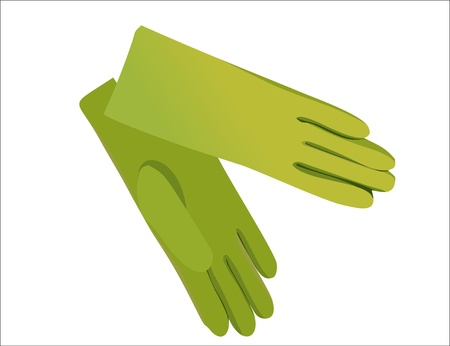 latex glove: gloves isolated on white Illustration