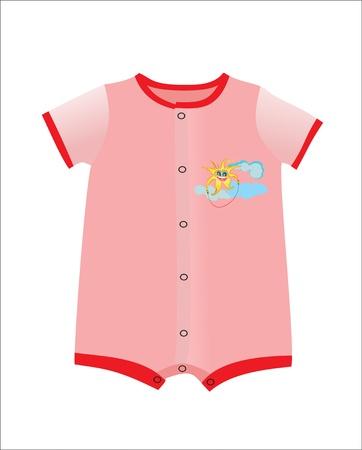 Rose vêtements pour bébé fille douche de bébé isolé sur fond blanc