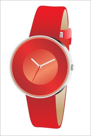 lady clock: Elegance and beautiful wristwatch Illustration