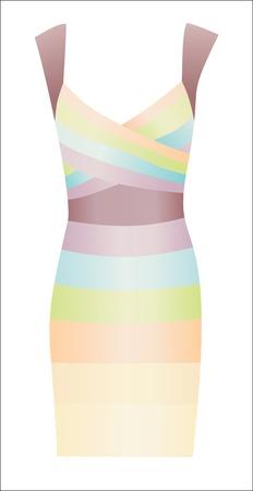 elegant dress isolated on white background Stock Vector - 15938539