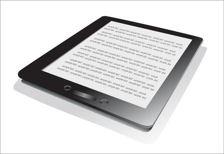 databank: Electronic book  e-book  reader  3d vector illustration