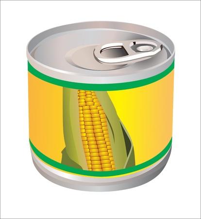 food container: banco con ma�z aislado en blanco